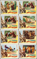 "Movie Posters:Adventure, Jungle Man-Eaters (Columbia, 1954). Lobby Card Set of 8 (11"" X 14""). Adventure.. ... (Total: 8 Items)"
