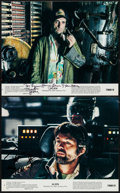 """Movie Posters:Science Fiction, Alien (20th Century Fox, 1979). Autographed Mini Lobby Cards (2)(8"""" X 10""""). Science Fiction.. ... (Total: 2 Items)"""