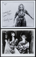 """Movie Posters:Horror, Candace Hilligoss in Carnival of Souls & Other Lot (c. 1980s).Autographed Convention Photos (2) (8"""" X 10""""). Horror."""