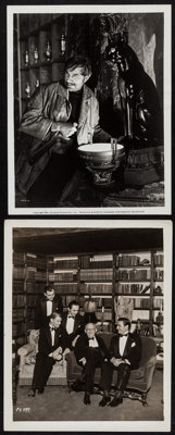 """Bela Lugosi in The Black Cat & Other Lot (Universal, 1941). Publicity Photos (2) (8"""" X 10""""). Horror..."""