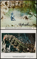 """Movie Posters:Fantasy, Ray Harryhausen Lot (Various, 1964/1969). Autographed Color Photos (2) (8"""" X 11""""). Fantasy.. ... (Total: 2 Items)"""