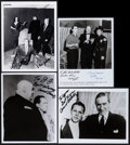 "Movie Posters:Science Fiction, Plan 9 from Outer Space (DCA, 1958). Autographed Restrike Photos(4) (8"" X 10""). Science Fiction.. ... (Total: 4 Items)"