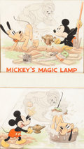 "Animation Art:Production Drawing, ""Mickey's Magic Lamp"" Good Housekeeping Illustrations by TomWood (Walt Disney, 1940)...."