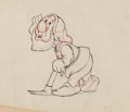 Animation Art:Production Drawing, Snow White and the Seven Dwarfs Sneezy Animation Drawing(Walt Disney, 1937). ...