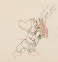 Animation Art:Production Drawing, Snow White and the Seven Dwarfs Bashful Animation Drawing(Walt Disney, 1937). ...