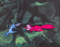 Animation Art:Production Cel, The Sword in the Stone Merlin (as a Rabbit) Production CelSetup (Walt Disney, 1963). ...