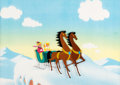 Animation Art:Production Cel, Melody Time Jenny and Joe Production Cel (Walt Disney,1948). ...
