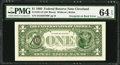 Error Notes:Third Printing on Reverse, Third Printing on Back Error Fr. 1921-D $1 1995 Federal Reserve Note. PMG Choice Uncirculated 64 EPQ.. ...