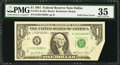 Error Notes:Foldovers, Foldover Error Fr. 1911-K $1 1981 Federal Reserve Note. PMG ChoiceVery Fine 35.. ...