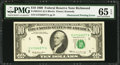 Error Notes:Obstruction Errors, Partial Obstruction of Third Printing Error Fr. 2018-E $10 1969Federal Reserve Note. PMG Gem Uncirculated 65 EPQ.. ...