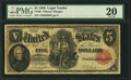 Large Size:Legal Tender Notes, Fr. 80 $5 1880 Legal Tender PMG Very Fine 20.. ...
