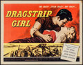 "Movie Posters:Bad Girl, Dragstrip Girl (American International, 1957). Half Sheet (22"" X28""). Bad Girl.. ..."