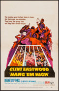 "Movie Posters:Western, Hang 'Em High (United Artists, 1968). Window Card (14"" X 22""). Western.. ..."