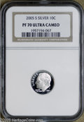 Proof Roosevelt Dimes: , 2005-S 10C Silver PR70 Deep Cameo NGC. PCGS Population (52/0). ...