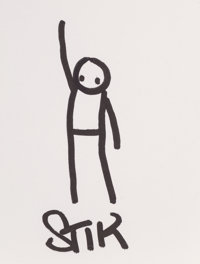 Stik (20th century) Untitled (Drawing) Ink on paper 5 x 3-7/8 inches (12.7 x 9.8 cm) (sheet) S