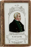 "Political:3D & Other Display (pre-1896), Zachary Taylor: Colorful ""Forget Me Not"" Patch Box...."