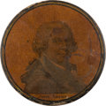 Political:3D & Other Display (pre-1896), John Adams: A Rare Papier Mâché Portrait Snuff Box....