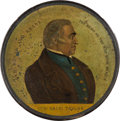 Political:3D & Other Display (pre-1896), Zachary Taylor: A Desirable Full-Color Papier Mâché Snuff Box Variety....