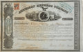 Transportation:Railroad, Henry Wells and William Fargo: Signed American Express StockCertificate....
