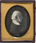 Photography:Daguerreotypes, President John Quincy Adams: A Highly Important From-life Quarter Plate Daguerreotype Image, Taken at the Washington, D.C. Stu...