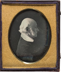 President John Quincy Adams: A Highly Important From-life Quarter Plate Daguerreotype Image, Taken at the Washington, D...