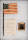 Political:Memorial (1800-present), Abraham Lincoln: Flag From His Washington, D.C. Funeral.... (Total: 3 Items)