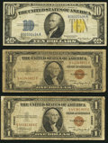 Small Size:World War II Emergency Notes, Fr. 2300 $1 1935A Hawaii Silver Certificates. Very Good. Two Examples.. Fr. 2309 $10 1934A North Africa Silver Certificate... (Total: 3 notes)