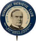 Political:Pinback Buttons (1896-present), William McKinley: Interesting Club Pin with Business Tie-In....