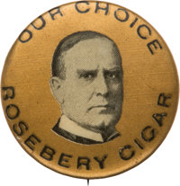 William McKinley: Uncommon Cigar Promotion Button