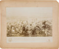 "Western Expansion:Cowboy, ""Custer's Last Fight"": An Early Photograph of the Iconic Engraving...."