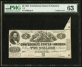 Confederate Notes:1862 Issues, Cutting Error T42 $2 1862.. ...