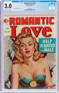 Golden Age (1938-1955):Romance, Romantic Love #9 (Realistic, 1952) CGC GD/VG 3.0 Off-white to whitepages....