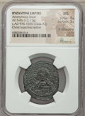 Ancients:Byzantine, Ancients: Anonymous. Class A2. Time of Basil II and ConstantineVIII (ca. AD 1020-1028). AE follis (12.11 gm). NGC MS 4/5 - 3/5,lt. smo...