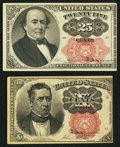 Fractional Currency:Fifth Issue, Fr. 1266 10¢ Fifth Issue About New;. Fr. 1308 25¢ Fifth IssueChoice About New.. ... (Total: 2 notes)