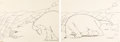 Animation Art:Production Drawing, Gertie the Dinosaur Production Drawings by Winsor McCay (1914).... (Total: 2 )