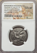 Ancients:Greek, Ancients: MACEDONIAN KINGDOM. Alexander III the Great (336-323 BC).AR tetradrachm (16.74 gm). NGC Choice XF....