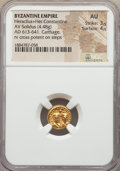 Ancients:Byzantine, Ancients: Heraclius (AD 610-641) and Heraclius Constantine (AD613-641). AV solidus (4.48 gm). NGC AU 3/5 - 4/5....