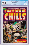 Golden Age (1938-1955):Horror, Chamber of Chills #21 (Harvey, 1954) CGC VF/NM 9.0 Cream tooff-white pages....