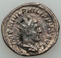 Ancients:Ancient Lots , Ancients: ANCIENT LOTS. Roman Imperial. Philip I and II (AD244-249). Lot of two (2) AR antoniniani. VF-Choice VF....(Total: 2 coins)