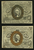 Fractional Currency:Second Issue, Fr. 1246 10¢ Second Issue Extremely Fine.. Fr. 1247 10¢ Second Issue Extremely Fine.. ... (Total: 2 notes)