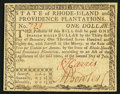 Colonial Notes:Rhode Island, Rhode Island July 2, 1780 $1 Fully Signed Extremely Fine.. ...