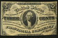 Fractional Currency:Third Issue, John Burke Courtesy Autograph Fr. 1227SP 3¢ Third Issue Narrow Margin Face Choice About New.. ...