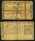 Colonial Notes:Maryland, Maryland March 1, 1770 $1/6 Very Good;. Maryland March 1, 1770 $1Very Good.. ... (Total: 2 notes)