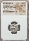 Ancients:Greek, Ancients: CALABRIA. Tarentum. Ca. 272-240 BC. AR stater or didrachm(6.46 gm). NGC AU 4/5 - 4/5....