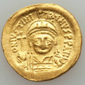 Ancients:Byzantine, Ancients: Justinian I (AD 527-565). AV solidus (4.38 gm). ChoiceVF. ...