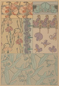 Fine Art - Work on Paper:Print, Alphonse Mucha (Czechoslovakian, 1860-1939). Untitled, Pl.41. Lithograph in colors on paper. 14-1/4 x 9-3/4 inches(36....