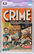 Golden Age (1938-1955):Crime, Crime Does Not Pay #22 (#1) (Lev Gleason, 1942) CGC Apparent VG 4.0 Slight (B-1) Cream to off-white pages....