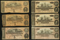 Confederate Notes:1864 Issues, T67 $20 1864. Three Examples.. T69 $5 1864. Three Examples.. ... (Total: 6 notes)