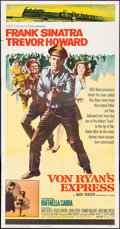 "Movie Posters:War, Von Ryan's Express (20th Century Fox, 1965). Three Sheet (41"" X79""). War.. ..."