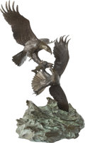 Fine Art - Sculpture, American, Clark Everice Bronson (American, b. 1939). Eagle's Conquest,1980. Bronze with polychrome. 32-1/2 inches (82.6 cm) high...